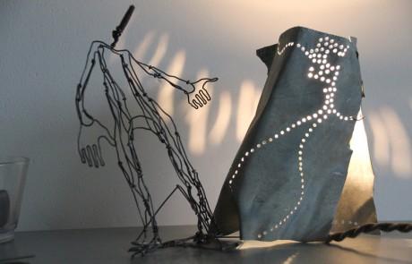 sculpture lampe delf design