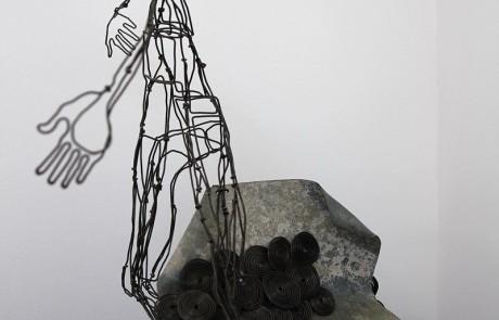 """lampe-sculpture-delf """"Etreinte"""