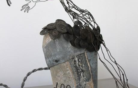 """lampe-sculpture-delf """"curiosité"""""""