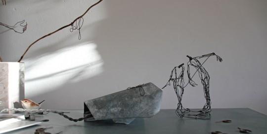 """lampe-sculpture-delf """"révérence"""""""